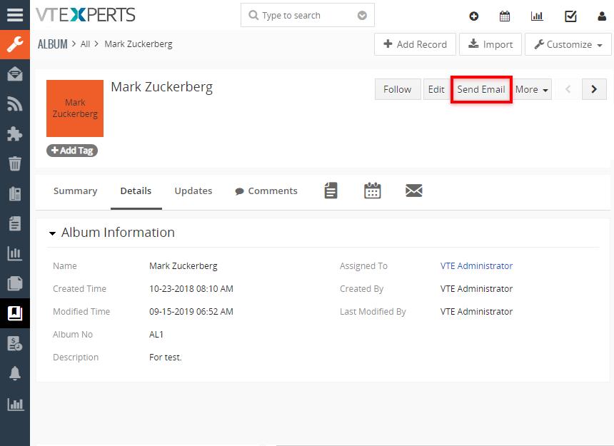 Enviar Emails Directamente Desde Módulos Custom En Vtiger